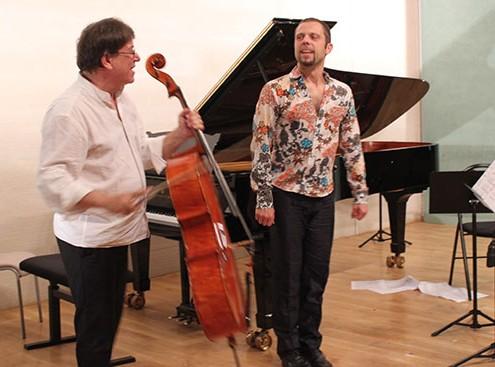 Michel Strauss et le claquettiste Max Pollak. © Jean-Marc Warszawski.